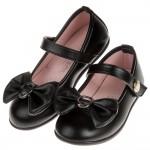 (17~23公分)台灣製蝴蝶結霧面黑色兒童公主鞋