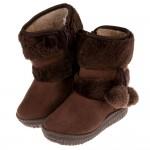 (16.5~22.5公分)球球咖啡色鋪毛保暖內裡兒童雪靴