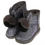 (18~20.5公分)球球銀河亮片鋪毛保暖內裡兒童雪靴