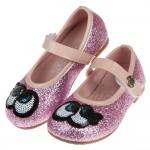 (15.5~20公分)大眼睛粉紅閃亮兒童公主鞋