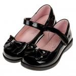 (19.5~24公分)台灣製典雅蝴蝶結黑色亮皮公主鞋學生鞋