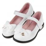 (19.5~24公分)台灣製緞面蝴蝶結白色公主鞋學生鞋