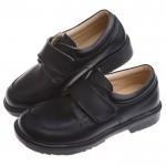 (19~23.5公分)時尚經典款純黑色男童紳士皮鞋