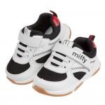 (13~15.5公分)Miffy米飛兔黑白運動風寶寶學步鞋H...
