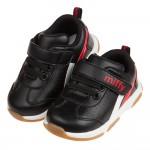 (13~15.5公分)Miffy米飛兔黑色輕量皮質寶寶學步鞋...