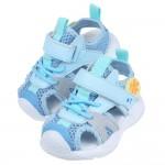 (14~16.5公分)淡藍色兒童透氣運動護趾涼鞋P#HD3N...