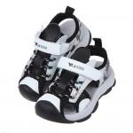 (17~19.5公分)黑灰色兒童透氣運動護趾涼鞋P#HD3NJ*XBX