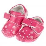 (13~15公分)Miffy米飛兔花花小領結桃色寶寶學步鞋