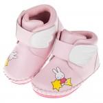 (13.5~16公分)Miffy米飛兔夢幻小翅膀粉色寶寶皮革靴