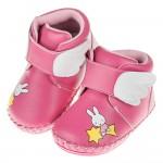(13.5~16公分)Miffy米飛兔夢幻小翅膀桃色寶寶皮革靴