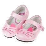 (13~15.5公分)喵咪寶貝粉色花童公主鞋