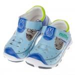 (13~16公分)Miffy米飛兔水藍色皮質護趾寶寶學步鞋