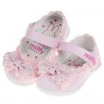 (13~15.5公分)Miffy米飛兔蕾絲滾邊粉色花童寶寶公...