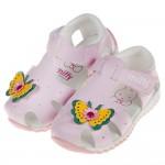 (13~15公分)Miffy米飛兔粉色閃亮蝴蝶寶寶護趾涼鞋