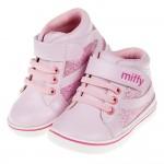 (13.5~15.5公分)Miffy米飛兔閃亮粉色寶寶皮革靴...