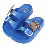 (15~19公分)汪汪隊阿奇警長立體圖樣藍色兒童輕量拖鞋R#BE3NB*XBX