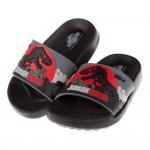 (15~20公分)侏儸紀公園黑色暴龍兒童超輕量輕便拖鞋