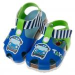 (13~17公分)TAYO小巴士藍綠色歐風兒童氣墊涼鞋