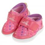 (14~18公分)ArnoldPalmer雨傘牌花朵印花桃色兒童休閒鞋