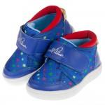 (14~18公分)ArnoldPalmer雨傘牌星星印花藍色兒童休閒鞋