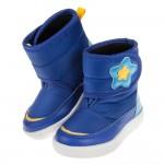 (14~18公分)ArnoldPalmer雨傘牌星星印花藍色兒童中筒靴
