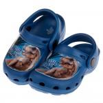 (15~22公分)侏儸紀公園暴龍恐龍藍色兒童布希鞋