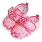 Disney迪士尼米妮繽紛粉棉柔防滑寶寶學步鞋(13公分~1...