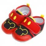 Disney迪士尼米奇經典紅棉柔防滑寶寶學步鞋(13公分~...