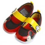 Disney迪士尼米奇圖樣黑紅配色休閒鞋室內鞋(14~19公...