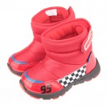 Disney迪士尼Cars汽車總動員閃電麥坤紅色保暖雪靴(15~20cm)