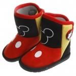 Disney迪士尼90週年限定款米奇黑色後扣式保暖雪靴(1...