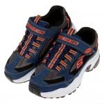 (17~23.5公分)SKECHERS_QUICKBACK深藍黑色兒童機能運動鞋P#KN3ND*XBB