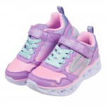 (17~23.5公分)SKECHERS_HEART_LIGHTS_五彩紫色兒童電燈運動鞋P#KH3LF*XXG