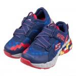 (17~23公分)SKECHERS_MEGA_CRAFT_像素造型藍灰紅橡膠兒童機能運動鞋P#KN3NB*XBB