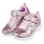 (17~23公分)SKECHERS_S_LIGHTS_閃耀亮片粉金兒童電燈運動鞋P#KH3NP*XGG