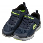 (17~23.5公分)SKECHERS_FLEX_透氣網布深藍兒童機能運動鞋P#KN3NB*XBB