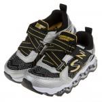 (17~23.5公分)SKECHERS_TURBOWAVE_黃黑色電燈兒童氣墊運動鞋P#KN3LD*XBB