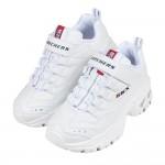 (17~23公分)Skechers純白色SKX兒童機能運動鞋老爹鞋P#KI3NM*XGG