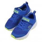 (17~22公分)SKECHERS_GORUN_CONSISTENT個性透氣藍黃色兒童機能運動鞋