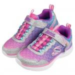 (17~23公分)SKECHERS_SEA_SPARKLE_美人魚亮片銀紫色海洋兒童運動鞋P#KH3NF*XGG