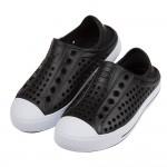 (17~22公分)SKECHERS純黑色兒童洞洞休閒鞋P#HD3ED*XBB