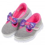 (13~18公分)SKECHERS_GO_WALK系列銀灰桃...