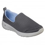 (23~25.5公分)SKECHERS_GOWALK灰色女鞋...