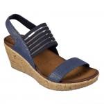 (23~26公分)SKECHERS_CALI系列華麗藍色寬版女款楔型涼鞋