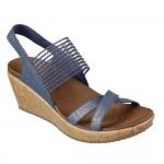(23~26公分)SKECHERS_CALI系列耀眼藍色女款楔型涼鞋