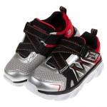 (17~24公分)SKECHERS_HYPNOFLASH3.0銀紅色兒童機能電燈運動鞋