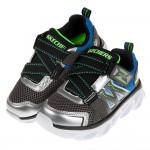 (17~24公分)SKECHERS_HYPNOFLASH3.0銀藍色兒童機能電燈運動鞋