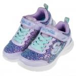 (17~23.5公分)SKECHERS_S_LIGHTS_閃耀亮片紫色兒童電燈運動鞋P#KH3LF*XGG