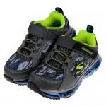 【官網限定特價】(17~23.5公分)SKECHERS_SKECH_AIR爆裂紋灰色兒童機能氣墊運動鞋