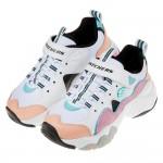 (17~23.5公分)SKECHERS_D'lites3.0粉白拼色老爹鞋兒童運動鞋P#KN3NM*XGG